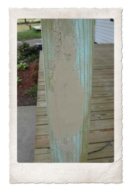 Ugly Wood Filler Job