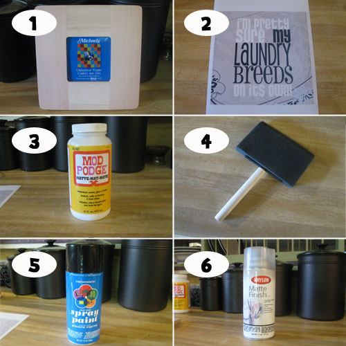 Supplies Needed to Make Your Own Laundry Room Sign