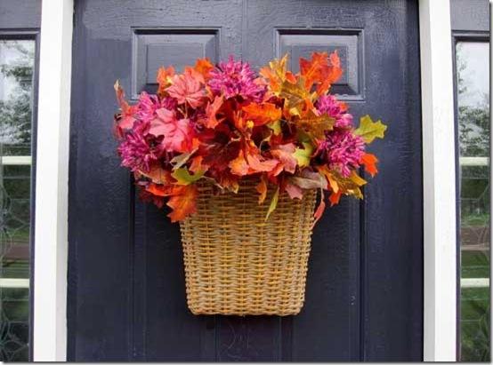 Pinterest Fall Door Basket