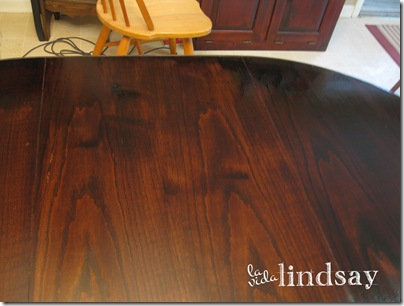 Oak Veneer Table Top with Dark Walnut Stain